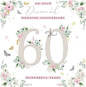 On Your Diamond Wedding Anniversary - 60 Wonderful Years