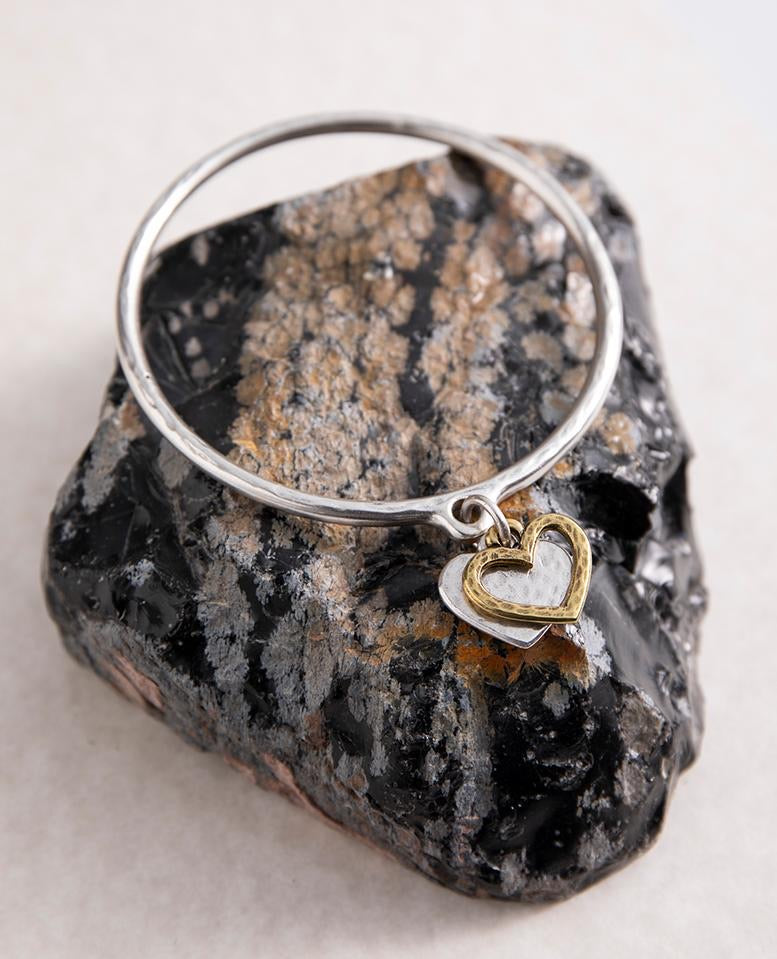 Heart & Outline Bangle by Danon