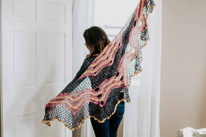 Fruit Loops and Spiderwebs Shawl - Crochet Shawl Pattern