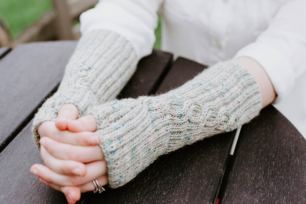 Wandering Ivy Fingerless Mitts - Knitting Fingerless Mitts Pattern