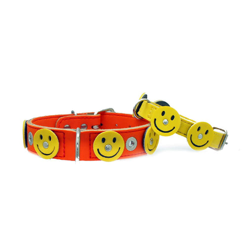 up2dog-doggidog-paris-designer-hundehalsband-leder-smiley-gelb