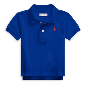 RALPH LAUREN - Cotton Mesh Polo Shirt