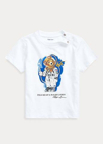 RALPH LAUREN - Diving Bear Cotton Jersey Tee