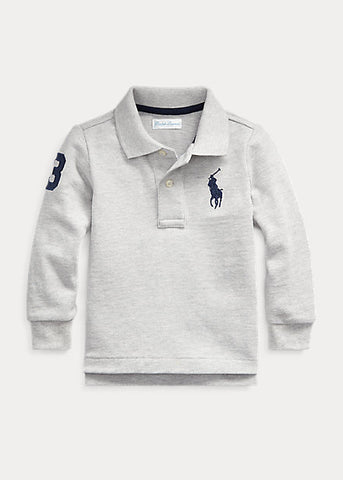 RALPH LAUREN - Cotton Mesh Long-Sleeve Polo