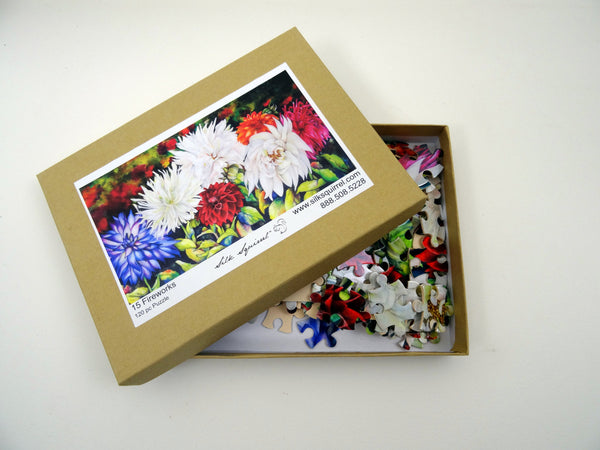 Adult Jigsaw Puzzle - Floral Puzzle - Dahlia - Garden Lover - Nature Puzzle - Games - Toys - 252 Pieces