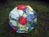 Umbrella - Winery Art Umbrella - Wedding Umbrella with Wooden Handle - Parasol - Wedding Parasol
