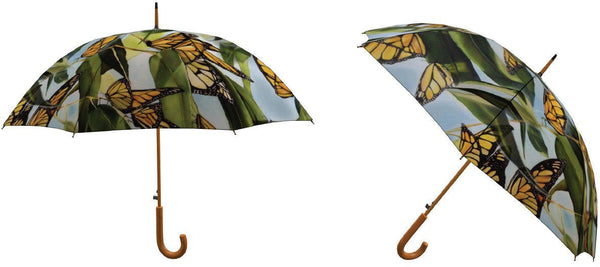 Umbrella - Art Umbrella - Wedding Umbrella with Wooden Handle - Butterfly Umbrella - Parasol - Beach Umbrella - Bridal Umbrella