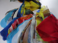 Craft Fabric Scraps - Assorted Silk Material Scrap - Nuno Felting Supplies - Craft Material - Remnant Silk - Bag of Silk Pieces