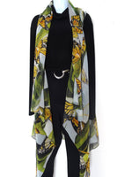 Elegant Butterfly Scarf Vest - Monarch Butterfly Silk Scarf - Poncho - Spring Scarf For Her - Mother of the Bride - One Size