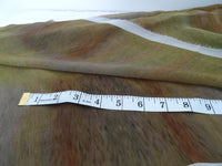 Bronze Silk Material - Vibrant Silk By Yard - Digital Print Silk Georgette 8mm - DIY Sewer - Craft Material