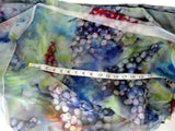Spring Silk Material - Grape Silk By Yard - Digital Print Silk Georgette 8mm - DIY Sewer - Craft Material