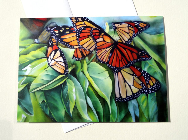 Monarch Butterfly Greeting Card with Envelope, Butterfly Greeting Card, Nature Mother's Day Card