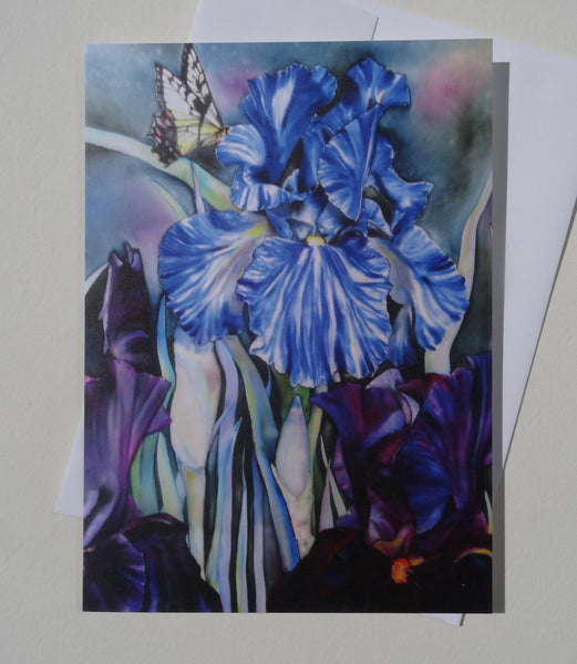 Iris Greeting Card with Envelope, Spring Floral Greeting Card, Nature Mother's Day Card