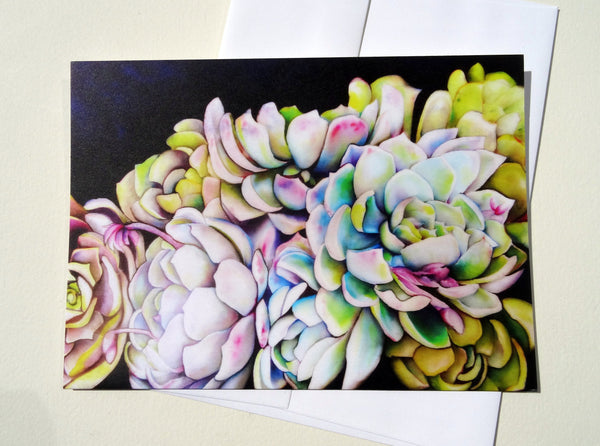 Succulent Greeting Card with Envelope, Blank Greeting Card, Nature Mother's Day Card
