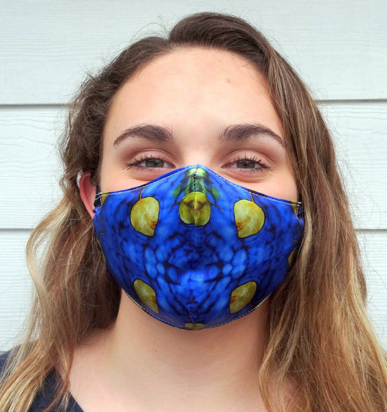 Abstract Patterned Protective Face Mask / Reusable Mask / One Size Fits Most / Triple Layered / Ships Same Day