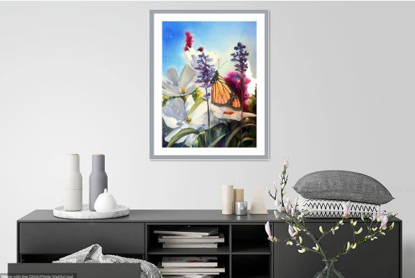 Monarch Butterfly Original Painting on Silk - Original Artwork