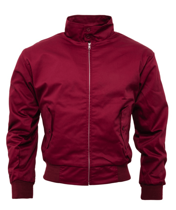 Burgundy Harrington Jacket - GIAN LONDON