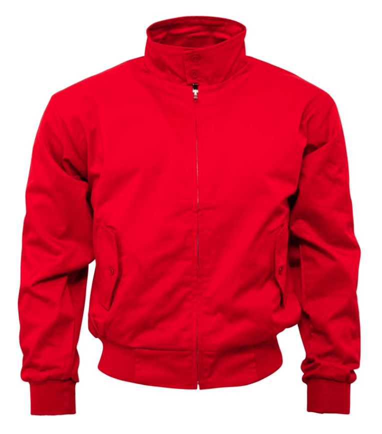 Red Harrington Jacket - GIAN LONDON