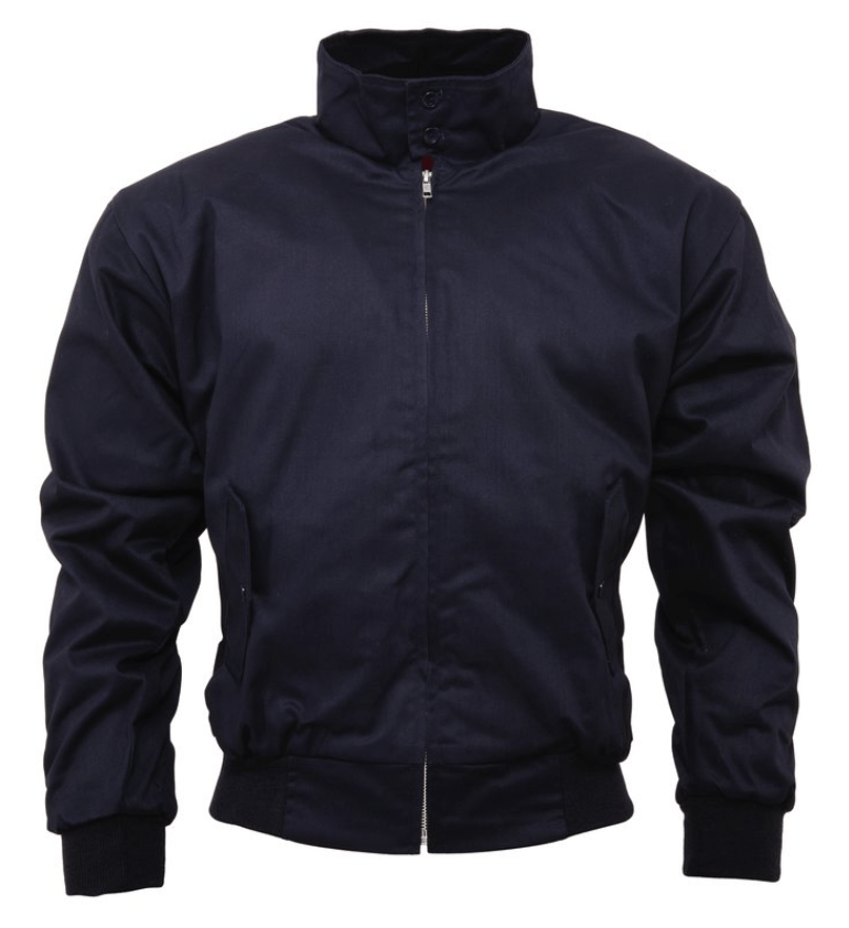 Navy Harrington Jacket - GIAN LONDON