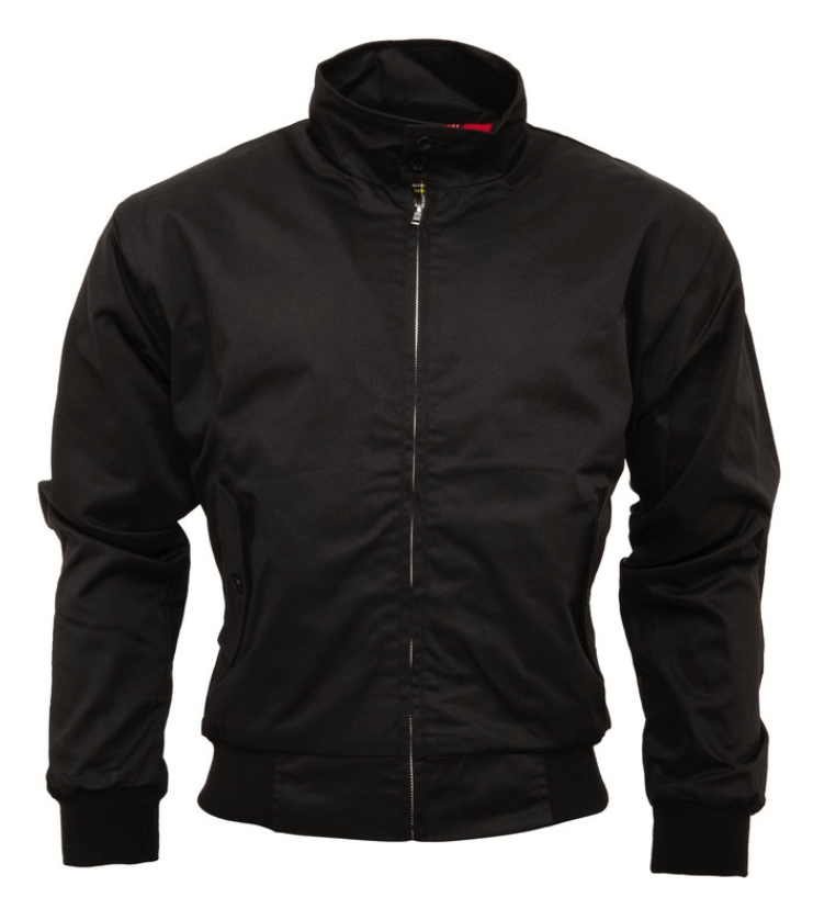 Black Harrington Jacket - GIAN LONDON