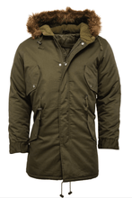 Load image into Gallery viewer, Olive Fishtail Parka - GIAN LONDON