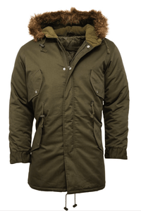 Olive Fishtail Parka - GIAN LONDON