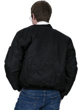Load image into Gallery viewer, Black MA1 Flight Bomber Jacket - GIAN LONDON