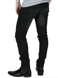 Sandblast Skinny Fit Stretch Jeans - GIAN LONDON