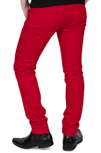 Red Skinny Fit Stretch Jeans - GIAN LONDON