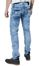 Load image into Gallery viewer, Marble Wash Skinny Fit Stretch Jeans - GIAN LONDON