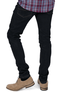 Garment Wash Skinny Fit Stretch Jeans - GIAN LONDON