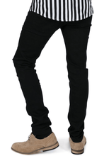 Load image into Gallery viewer, Black Skinny Fit Stretch Jeans - GIAN LONDON