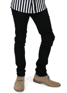 Black Skinny Fit Stretch Jeans - GIAN LONDON