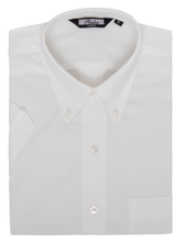 Load image into Gallery viewer, White Classic Oxford Weave Short Sleeve Shirt - GIAN LONDON