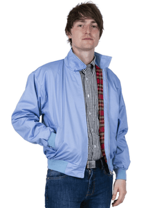 Sky Blue Harrington Jacket - GIAN LONDON