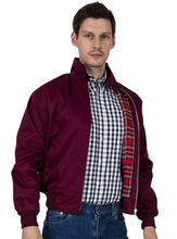 Load image into Gallery viewer, Burgundy Harrington Jacket - GIAN LONDON