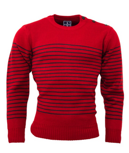 Red Naval Jumper - GIAN LONDON