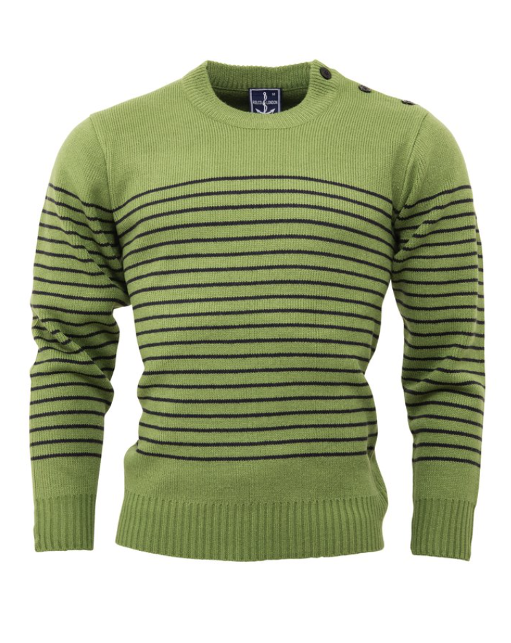 Green Naval Jumper - GIAN LONDON
