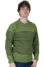 Load image into Gallery viewer, Green Naval Jumper - GIAN LONDON