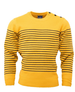 Mustard Naval Jumper - GIAN LONDON