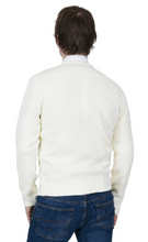 Load image into Gallery viewer, Creme & Burgundy Cardigan - GIAN LONDON