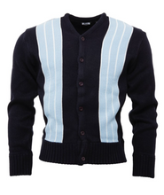 Load image into Gallery viewer, Navy & Sky Blue Cardigan - GIAN LONDON