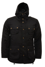 Load image into Gallery viewer, Black Wax Parka Jacket - GIAN LONDON