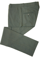 Load image into Gallery viewer, Tonic Green Two Tone Sta Press Trousers - GIAN LONDON
