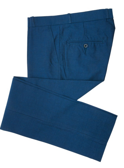 Tonic Blue Two Tone Sta Press Trousers - GIAN LONDON