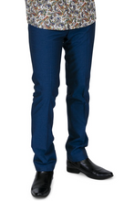 Load image into Gallery viewer, Tonic Blue Two Tone Sta Press Trousers - GIAN LONDON