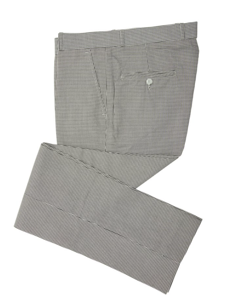 Dogtooth Check Sta Press Trousers - GIAN LONDON