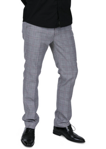 Prince of Wales Check Sta Press Trousers - GIAN LONDON