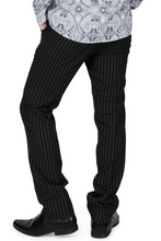 Load image into Gallery viewer, Black Pinstripe Sta Press Trousers - GIAN LONDON