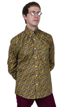 Load image into Gallery viewer, Platinum Mustard Paisley Long Sleeve Shirt - GIAN LONDON